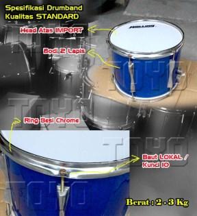 Spesifikasi Drumband Standar